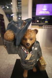 Paddington björnstaty i London Royaltyfria Foton