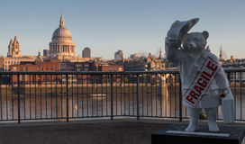 Paddington niedźwiedź Pauls i St, Londyn Zdjęcia Royalty Free