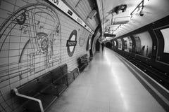 Paddington ondergrondse post, Londen Royalty-vrije Stock Afbeeldingen