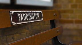 Paddington station. Bench at Paddington metro station. London, England Stock Image
