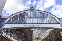 Paddington Station entrance Royalty Free Stock Images