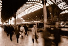 Paddington Station in London Stockfoto