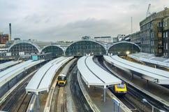 Paddington Station in London. Paddington Station. Trains awaiting departure Royalty Free Stock Images