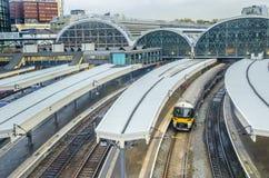 Paddington Station, London. Paddington Station. Trains awaiting departure Royalty Free Stock Images