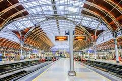 Paddington Station. London, UK - December 18, 2016: Interior architecture of Paddington station a famous railway station in central  London, United Kingdom Stock Photography