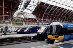 Paddington Station, London, UK. Trains and Platforms at Paddington Station, London, UK Royalty Free Stock Image