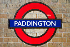 Paddington subterrâneo Foto de Stock Royalty Free
