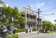 Paddington Sydney della casa del terrazzo Fotografie Stock Libere da Diritti