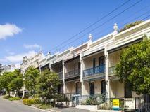 Paddington Sydney della casa del terrazzo Fotografie Stock