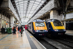 Paddington (2 Trains) Stock Photo
