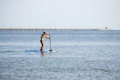 Paddle abordaż na Chesapeake zatoce Obraz Royalty Free