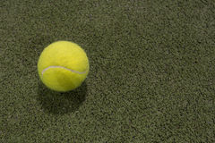 Paddle ball in astroturf court. In the night Stock Photo