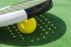 Paddle balls and rackets shadow Royalty Free Stock Photo