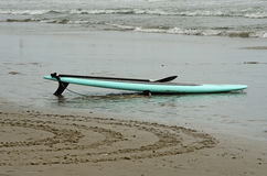 Paddle Board Equipment On the Beach Stock Photography