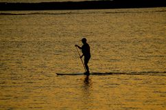 Paddle board on the Lake in Vermont Stock Photography