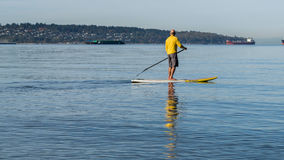 Paddle board sunday Stock Photo