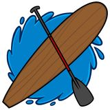 Paddle Board. A vector illustration of Paddle Board and Oar Stock Images