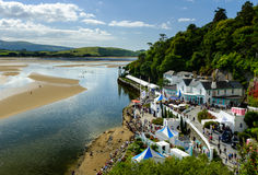 Paddle boarders, Portmeirion Royalty Free Stock Images