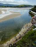 Paddle boarders, Portmeirion Stock Image