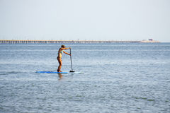 Paddle boarding on the Chesapeake Bay Royalty Free Stock Image