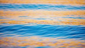 Cool blue water. Paddle boarding the French Polynesians islands Royalty Free Stock Image