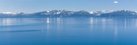 Paddle boarding Lake Tahoe Stock Photo
