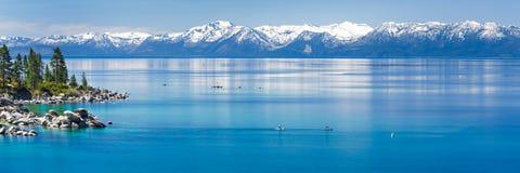 Paddle boarding Lake Tahoe Royalty Free Stock Photo
