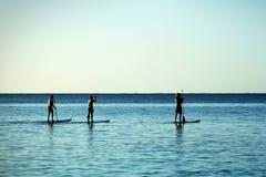 Paddle-boarding Stock Image