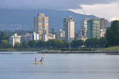 Paddle Boarding in Vancouver, Canada Royalty Free Stock Photo