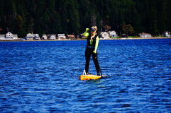 Paddle boarding Royalty Free Stock Photos
