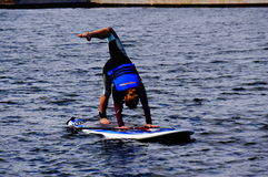 Paddle boarding Royalty Free Stock Photo