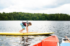 Paddle boarding Royalty Free Stock Photography