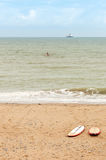 Paddle boards on the beach Royalty Free Stock Photos