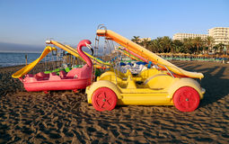 Paddle Boat on the beach Royalty Free Stock Photos
