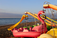Paddle Boat on the beach Stock Photo