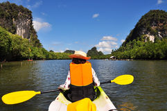 Paddle Boat. In Krabi Thailand Royalty Free Stock Photos