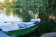 Paddle boat. On the lake royalty free stock photo