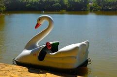 Paddle boat on the lake Stock Photo