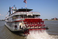 Paddle boat Natchez. The Paddle boat Natchez on the Mississippi river in New Orleans Lousiani Stock Image