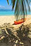 Paddle boat. Is on sandy beach, Maldives Stock Images