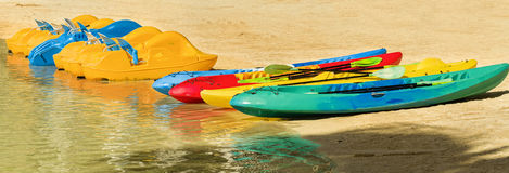 Paddle-boats and Kayaks, Waikiki, Oahu, Hawaii stock images