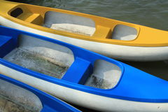 Paddle Boats Made Of Fiberglass Stock Photo
