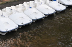 Paddle boats for rent Stock Photo