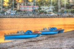 Paddle boats Royalty Free Stock Photography