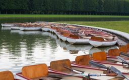 Paddle boats on water in a Paris park Stock Photography