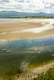 Paddle bording, Portmeirion Royalty Free Stock Images