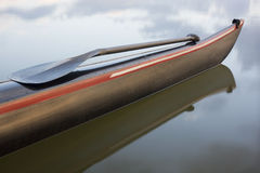 Paddle on a bow of racing outrigger canoe Royalty Free Stock Photos