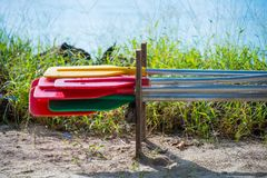 Paddle for canoe or kayak boats Royalty Free Stock Photography
