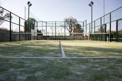 Paddle court. Background outdoor tennis royalty free stock image