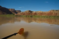 Paddle in a desert river Royalty Free Stock Photography